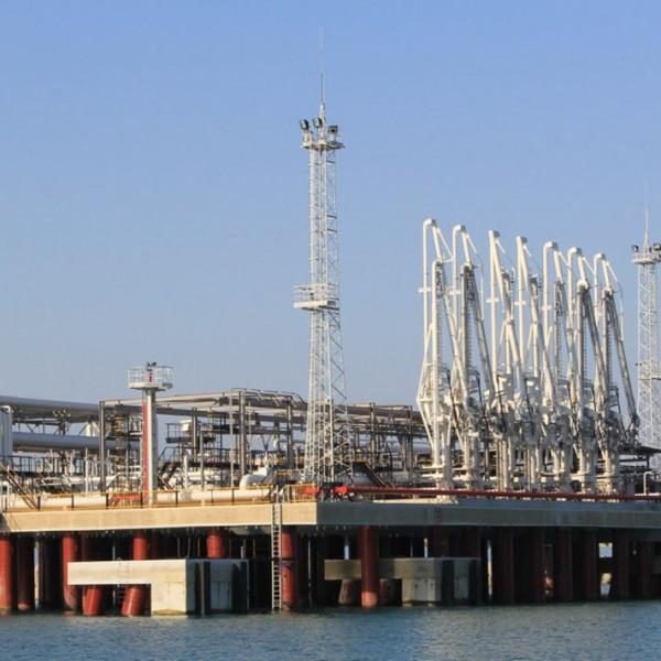 Строительство глубоководного причала Туапсинского морского порта
